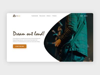 Online Guitar Learning Website website design web design webdesign website ux design uxdesign ux  ui uxui ux ui design uidesign ui  ux uiux ui landing page design landing page landingpage landing