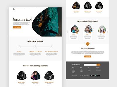 Online Guitar Learning Website - Full version webdesign ui  ux minimalist ui ux ui design uiux uidesign design minimal landingpage