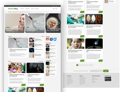 Medical Blog web design / Landing page ux blog uiux design webdesign uxdesign landingpage uidesign ui design ui