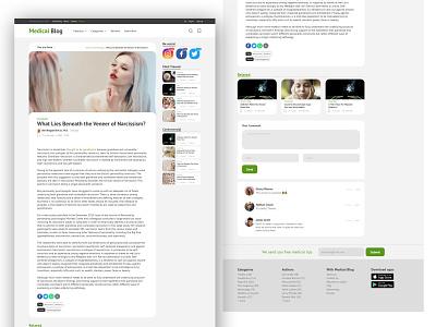 Medical Blog web design / Blog post page blog ui  ux ui uxdesign uidesign ui design landingpage webdesign uiux ux