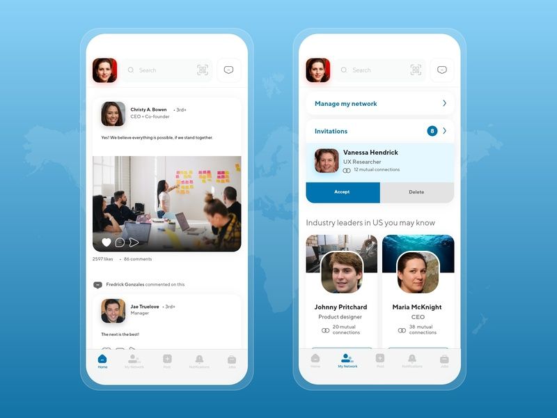 Linkedin App Informal Redesign business user interface design userinterface uiux ui  ux design app ui design uidesign ui linkedin