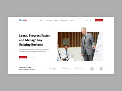 Business School Landing Page ui  ux landing teacher business school school uiux ui