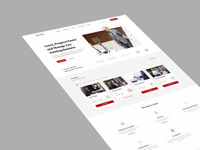 Business School Landing Page - 2 landingpage branding minimal webdesign ui design ui