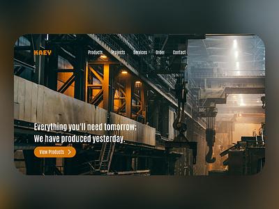 KAEY Steel Factory landing page concept webdesign landingpage web