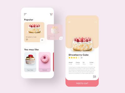 Cake Shop Ecommerce Concept ui ui design minimalist minimal uidesign
