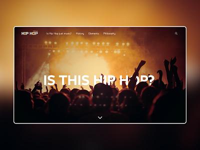 Hip Hop Culture parallax landing page concept culture rap hip hop hiphop webdesign minimal minimalist web landingpage ui design uidesign ui