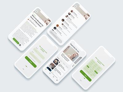 Medical Blog App Concept ux design uxdesign ux  ui uxui ux news application app medical ui design uidesign ui  ux uiux ui blog
