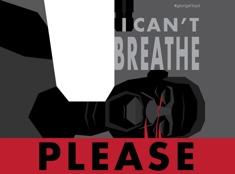 I Can't Breathe, Please equality poster digital art blacklivesmatter justice change racism blm race illustration graphic design