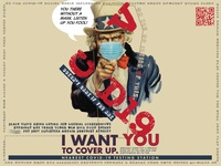 COVID-19: I Want You to Cover Up psa paul miranda pandemic recruiting james montgomery flagg vernacular retro coronavirus covid19 covid-19 adobe illustrator illustration poster design poster art poster advertisment graphic art graphic design