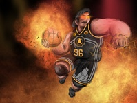 Hello Dribble procreate painting debut design basketball illustration digital illustration design illustration art illustration