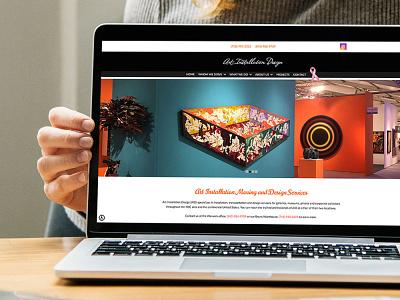 Devine Design Website for Art Installation Design web design design wordpress websitedesigner
