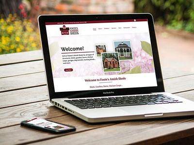 DevineDesign Footes Amish Sheds wordpress web design websitedesigner logo