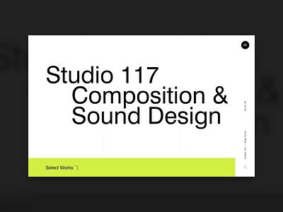 Homepage Concept advertising creative sound design studio agency homepage
