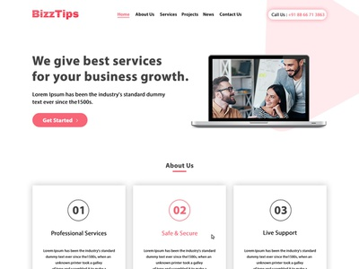 BizzTips - Business and Consulting Layout human resources hr financial advisor finance corporate consulting consultant company business adviser advertising accountant