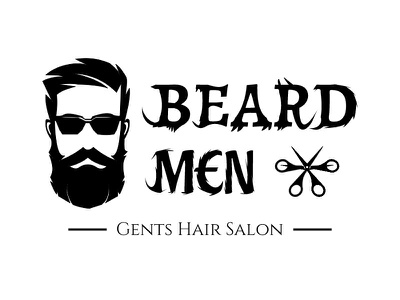 Beard Men Logo Design skincare salon manicure makeup hairdresser haircut hair salon hair barbershop barber