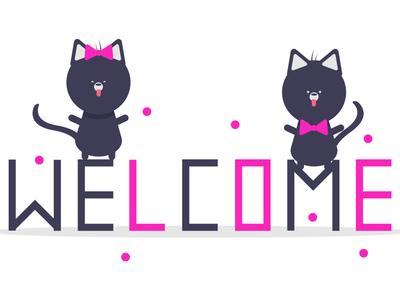 welcome design illustration