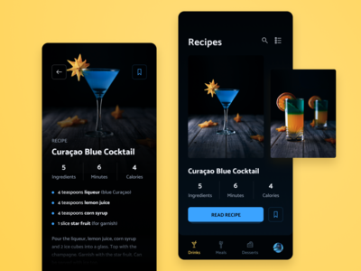 Drinks & food recipes app