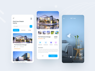 Real Estate App 2020 trend design home apartment rent app app clean apartment design booking userinterface mobile app ui uiuxdesign ux real estate branding real estate realestate real estate agent real estate agency property