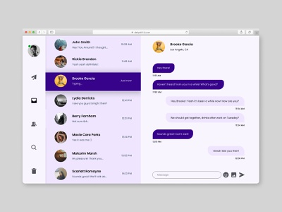Direct Messaging dailyui013 dailyui13 design flat minimal dailyui uiux daily uidesign ui