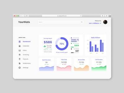 Analytics Dashboard dashboard chart analytics dailyui018 dailyui18 dailyui