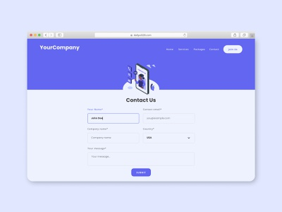 Contact Us dailyui 028 dailyui 28 contact us page contact page contact form contact us dailyuichallenge illustration design minimal flat daily uiux uidesign ui dailyui