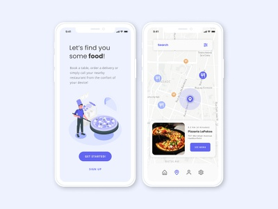 Map dailyui029 dailyui 29 food and drink food food app map maps dailyuichallenge illustration design minimal flat daily uiux ui uidesign dailyui
