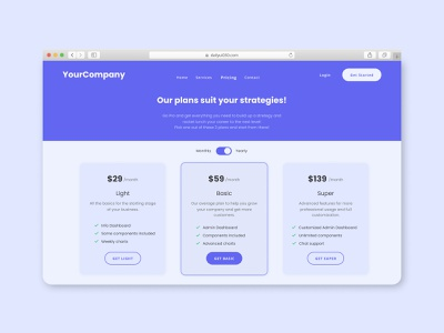 Pricing Page dailyui 030 dailyui 30 pricing plan pricing page pricing dailyuichallenge design minimal flat daily uiux uidesign ui dailyui