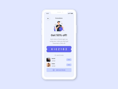 Special Offer invites invite promotion code promotion special offering illustration dailyuichallenge design minimal flat daily uiux uidesign ui dailyui
