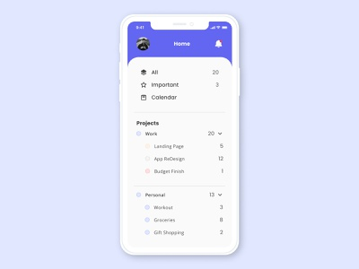 ToDo List to do app mobile app daily ui 42 dailyui 42 dailyui42 dashboard dailyuichallenge uiux uidesign ui minimal flat dailyui todo todo list to do list