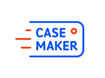 Case Maker case maker phone cover slipcover telephone logo identity blue iphone red make