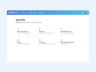Edit Profile software portal website jobs recruiting graphic design ui