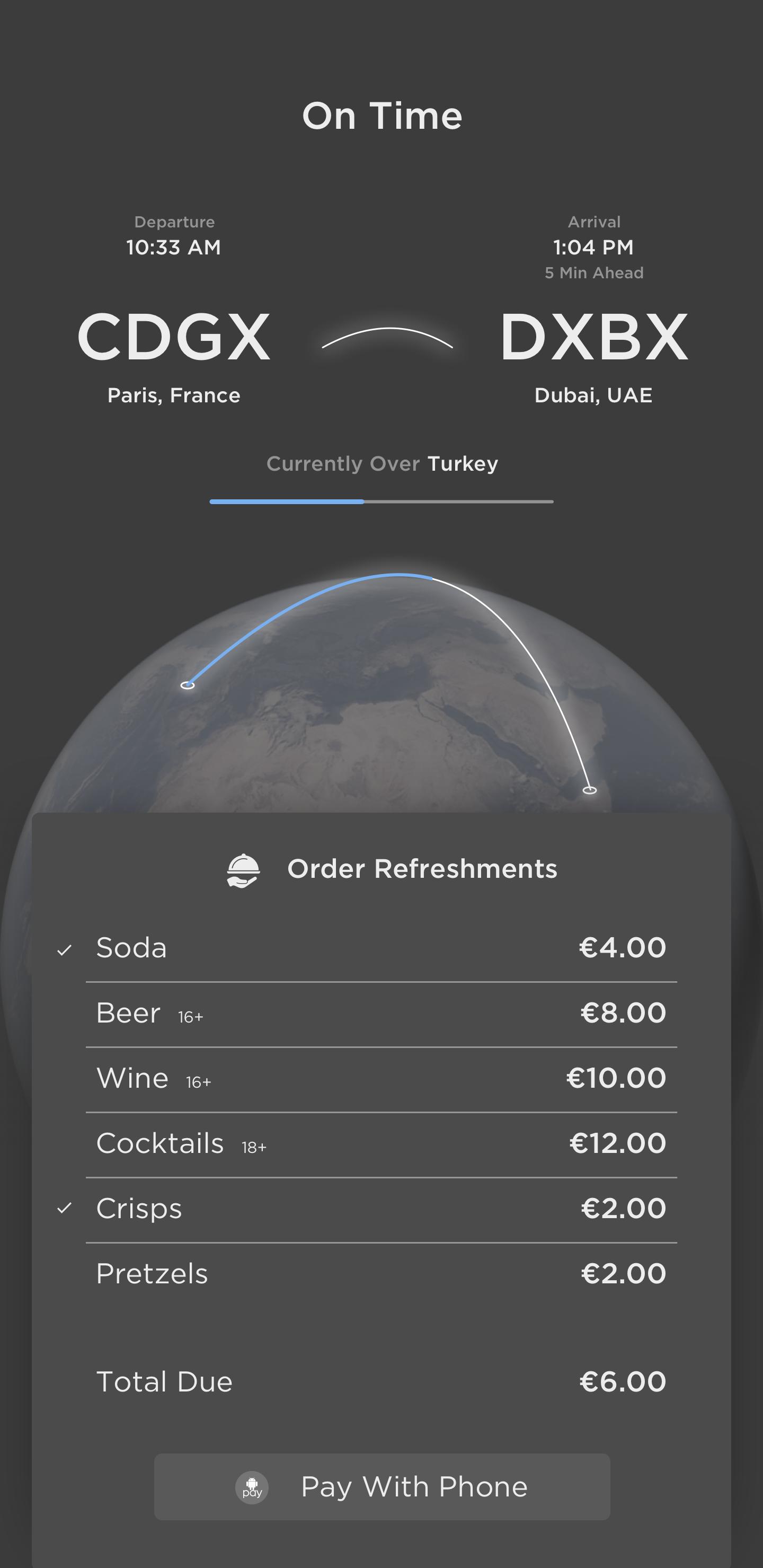 Bfr   refreshments purchase