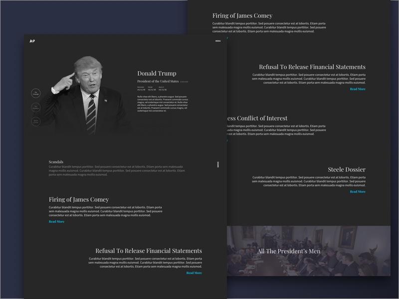 President Profile Dark stories scandals crimes donald trump arrest the president