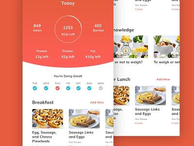 Keto App dashboard tracker meal diet keto