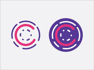 Branding Exploration bright logo circles concentric