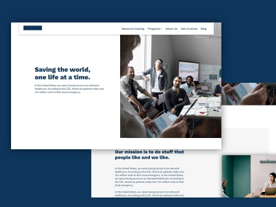 Client Website - About Us non profit medical blog features marketing site landing page freelance redesign website