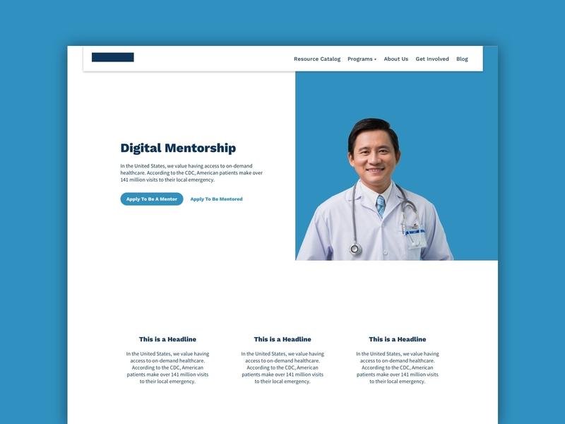 Client Website - Services non profit medical blog features marketing site landing page freelance redesign website