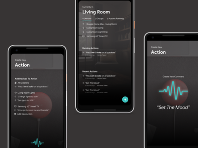 Smart Home App tv lights speakers cortana siri google assistant google home internet of things connected devices smart home