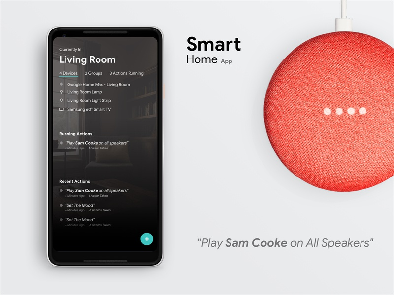 Smart Home App app ui smart lights smart tv google assistant siri connected devices smart home