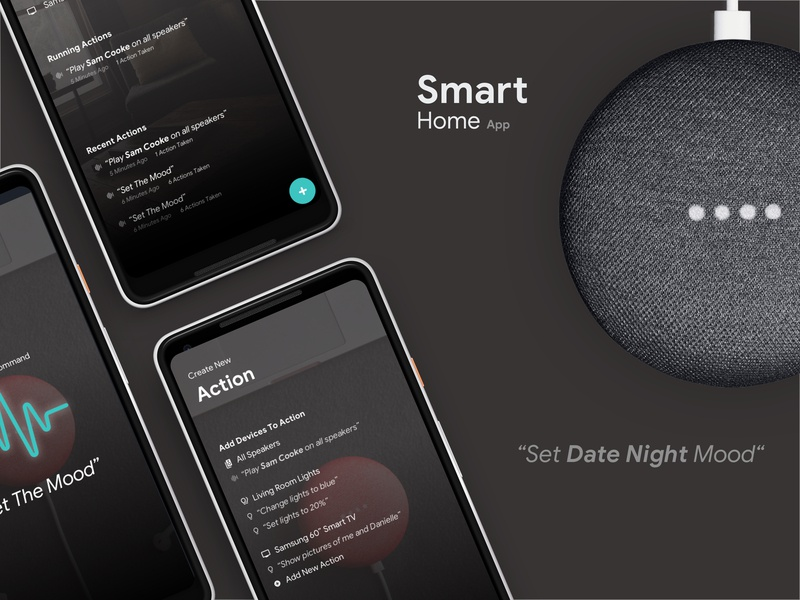 Smart Home App tv speakers smart home siri lights internet of things google home google assistant cortana connected devices