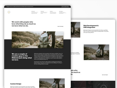 MWO Services Page website agency portfolio