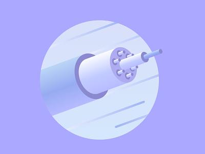 Data Cable technology isometric illustration