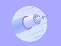 Data Cable technology isometric illustration