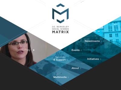 UC Berkeley Social Science Matrix Site Design