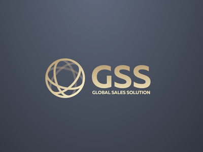GSS // Global Sales Solution gradiens gold premium sales logotype logos logo global gss