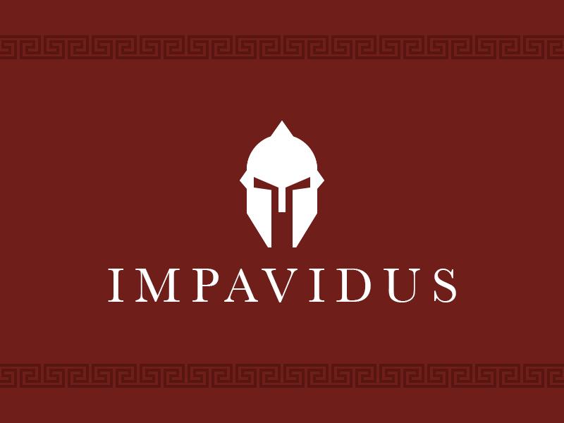 Impavidus Logo logo roman sparta helmet