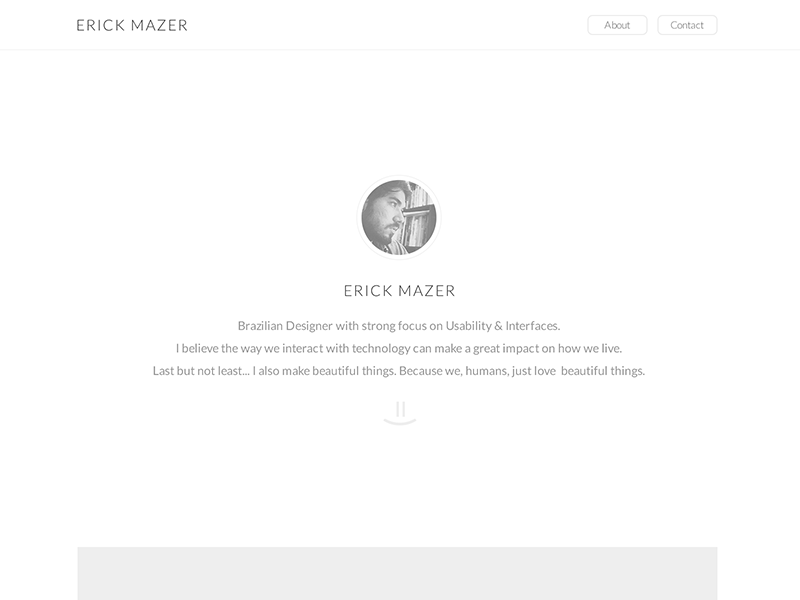 New Website WIP clean minimalism
