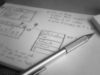 UX ux sketch pencil nubank