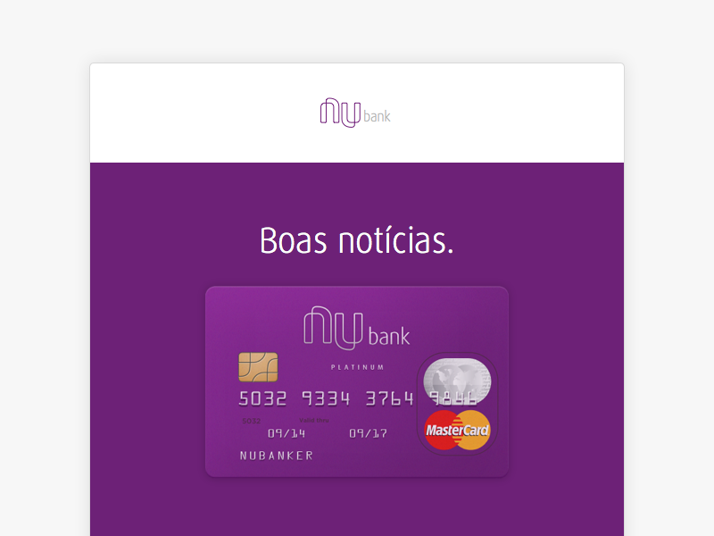 Invite Code Email nubank bank email creditcard credit card clean