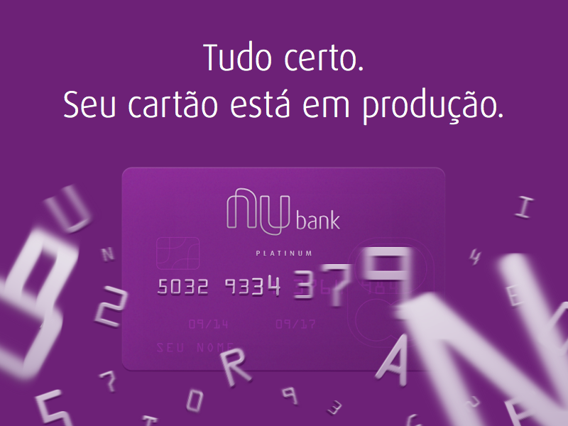 Card in Transit - Email Header nubank bank email creditcard credit card clean fintech